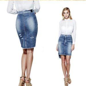 GUESS Jean Pencil Skirt